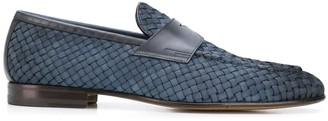 Santoni Slip-On Woven Loafers