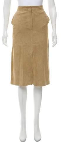 Max Mara Suede Pencil Skirt