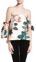 Sachin + Babi Benita Off-the-Shoulder Floral-Print Structured Top