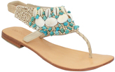 Cocobelle Tuquoise Kaui Leather Sandal