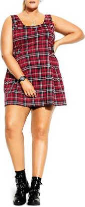 City Chic Plaid Check Minidress