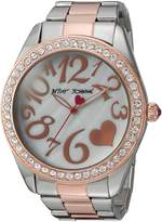 Betsey Johnson Women's BJ00249-39 Two-Tone Case and Bracelet Watch
