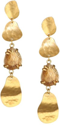 Chan Luu Copper Sheen Labradorite Drop Earrings