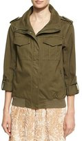 Alice + Olivia Marvis Never Say Never Utility Cargo Jacket, Green Multi