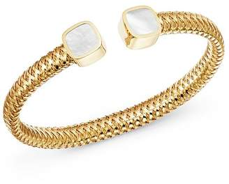 Roberto Coin 18K Yellow Gold Primavera Mother-of-Pearl Square Station Bypass Bangle