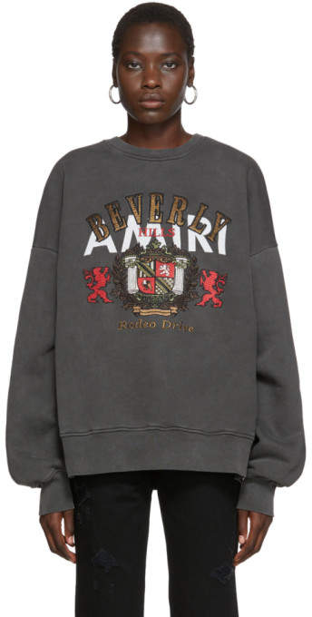 Amiri Black Beverly Hills Sweatshirt