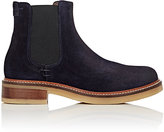 Barneys New York WOMEN'S CREPE-SOLE SUEDE CHELSEA BOOTS-NAVY SIZE 6