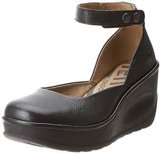Fly London Women's JODY956FLY Ankle Strap Heels, Off-White (Offwhite 001), 7 (40 EU)