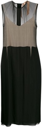 No.21 Sheer Panelled Midi Dress
