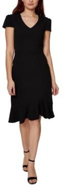 Betsey Johnson V-Neck Flounce A-Line Dress