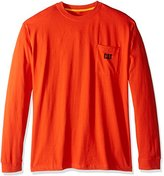 Caterpillar Big and Tall Men's Trademark Pocket Long Sleeve T-shirt