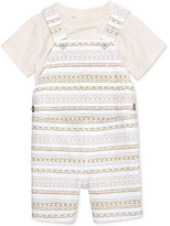 First Impressions 2-Pc. T-Shirt & Striped Overall Set, Baby Boys (0-24 months), Only at Macy's