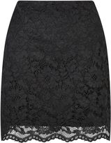Miss Selfridge Black Lace A Line Mini Skirt