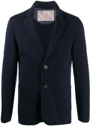 Herno Single-Breasted Knitted Blazer