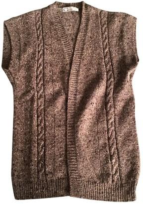 Emmanuelle Khanh Brown Wool Knitwear for Women Vintage