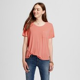 Mossimo Women's Short Sleeve Softest Crew T-Shirt Coral L