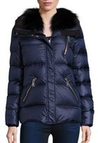 Andrew Marc Fox Fur Collar Down Puffer Jacket