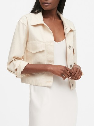 Banana Republic Cropped Utility Jacket