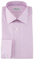 Charvet Check Barrel-Cuff Dress Shirt, Pink/Blue