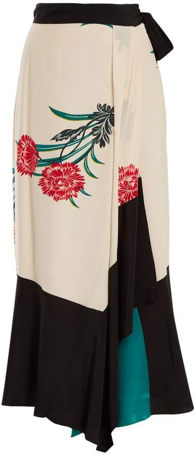 Diane von Furstenberg Farren floral-print silk crep-de Chine skirt