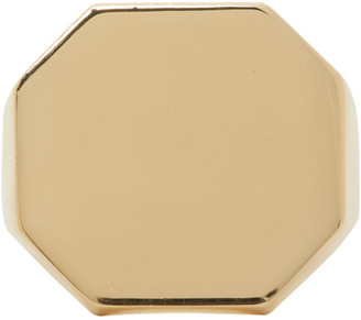 Bottega Veneta Gold Signet Ring