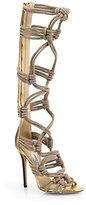 Jimmy Choo Keane Braided Rope Sandal Boots