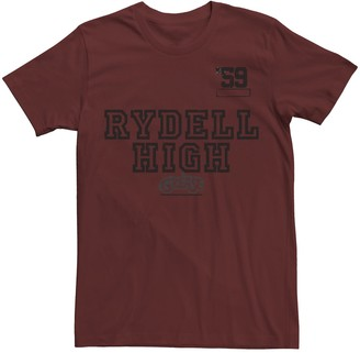 Licensed Character Men's Grease Rydell High '59 Distressed Text Tee