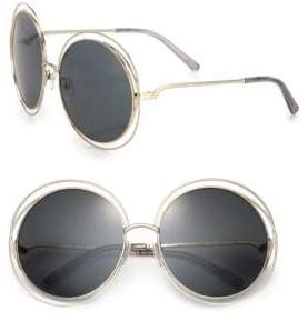 Chloé Carlina 62MM Round Metal Sunglasses