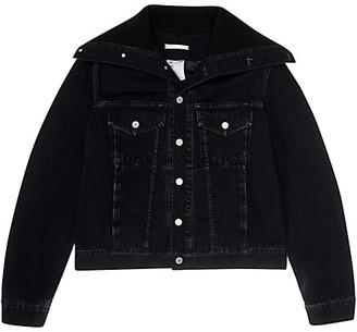 Helmut Lang Knit Collar Trucker Jacket