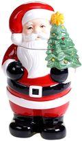 Certified International Retro Christmas 3D Santa Cookie Jar