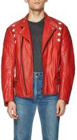 """Vintage Red Leather """"Interstate of Great Britain"""" Moto Jacket"""