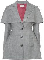 Sara Battaglia fitted cape detail blazer