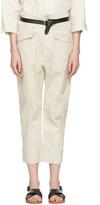 Etoile Isabel Marant Ecru Oaklyn Pockets Trousers