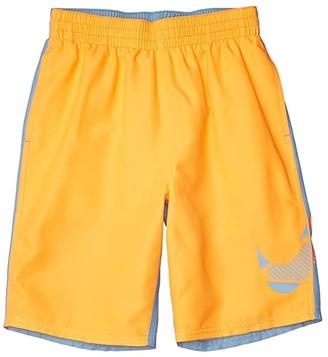 Nike Kids 8 Color Block Volley Shorts (Little Kids/Big Kids) (Green Spark) Boy's Swimwear