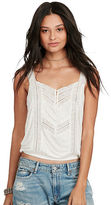 Denim & Supply Ralph Lauren Lace-Inset Jersey Top