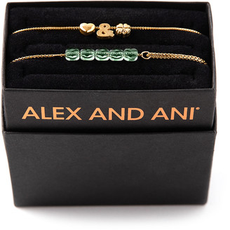 Alex and Ani Love & Luck Bracelets, Set of 2, Gold