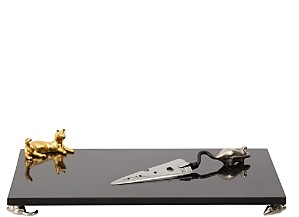 Michael Aram Cat & Mouse Cheese Board & Knife