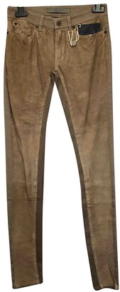 Superfine Beige Cotton Jeans for Women