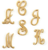Jennifer Zeuner Jewelry Gold Initial Earring, Left