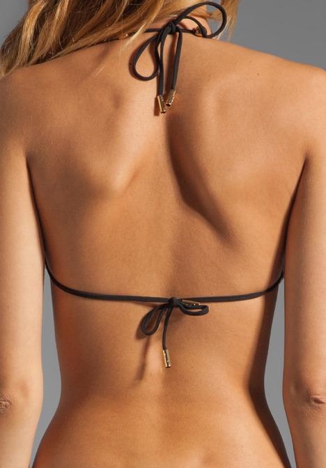 Red Carter Bejeweled Bikini Top