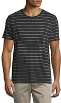 Vince Shadow-Stripe Short-Sleeve Tee, Black