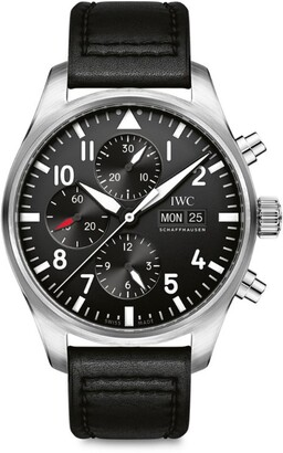IWC SCHAFFHAUSEN Stainless Steel Pilot's Chronograph Watch 43mm