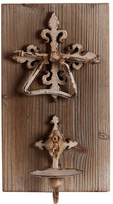 Privilege Iron & Wood Wall Candle Holder