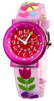 Baby Watch – 606047 – Tulip – Teacher Girl Watch – Quartz – Pink Dial Pink Plastic Strap
