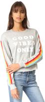 Spiritual Gangster Good Vibes Only Crop Sweatshirt
