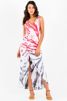 Saint Grace Gita Maxi Dress In Poppy Sunrise Wash