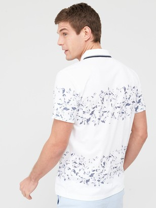 Very Man Floral Stripe Polo Shirt - White
