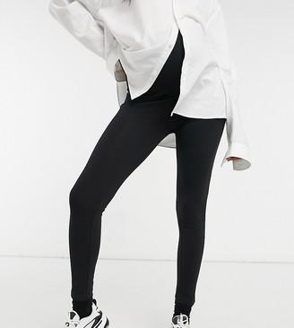 New Look Maternity highwaist leggings in black