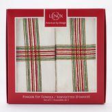 Lenox Holiday Nouveau Plaid 2-pack Fingertip Towel Set
