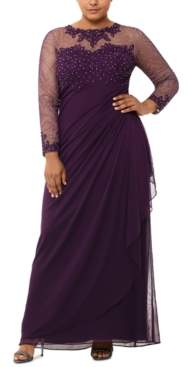 Xscape Evenings Plus Size Beaded Gown